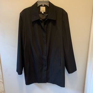 Anne Klein black coat . Size XL
